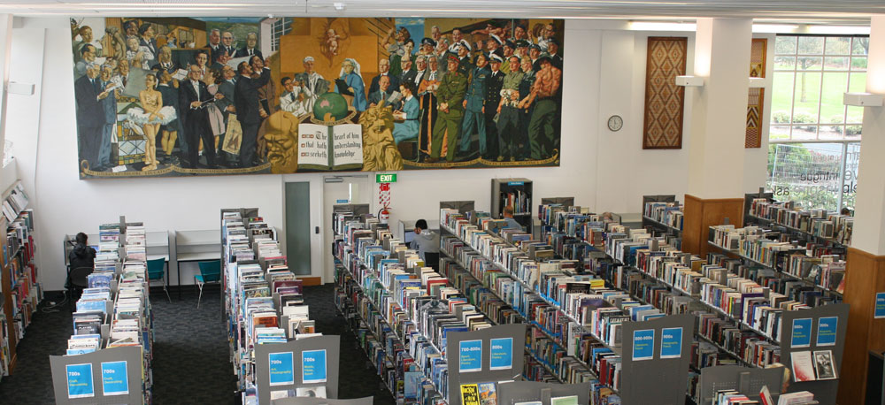 Human Endeavour mural, Lower Hutt War Memorial Library