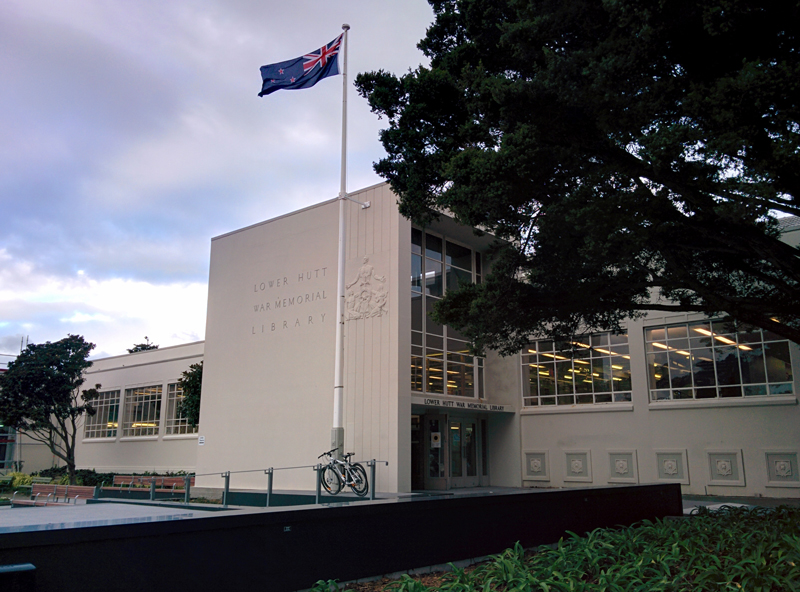 Lower Hutt War Memorial Library Wellington