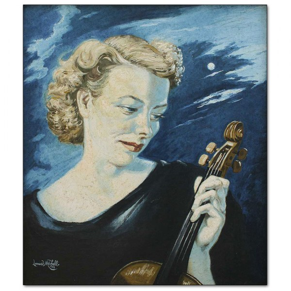 Vivien Dixon with Violin (NZ Symphony Orchestra)