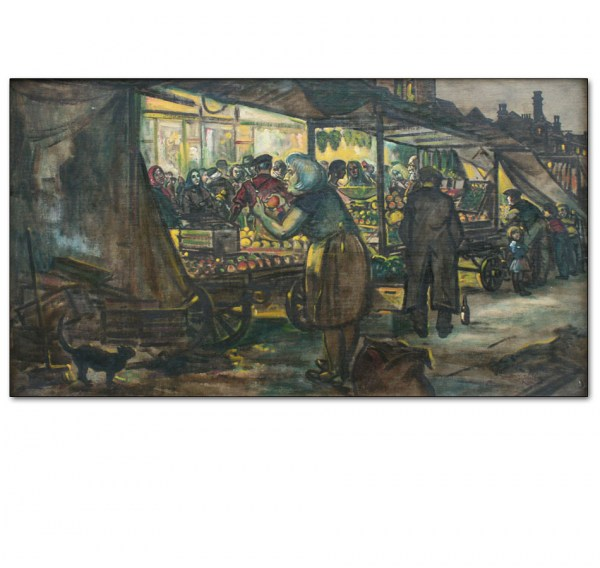 Mile End Market, East End of London