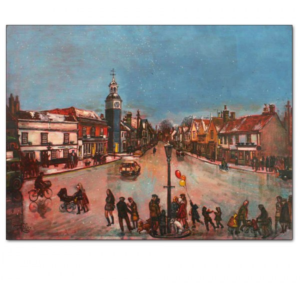Winter, Market Hill, Coggeshall