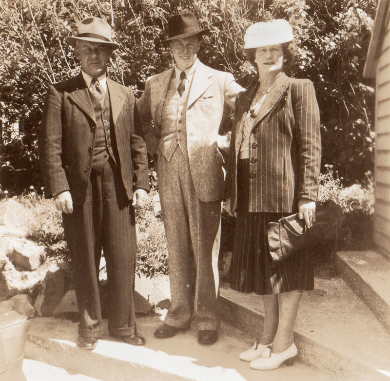 Len with his parents, Leonard Cornwall & Victoria Mitchell
