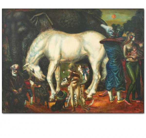 White Horse and Circus Family