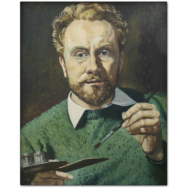 Self Portrait in Green Jersey