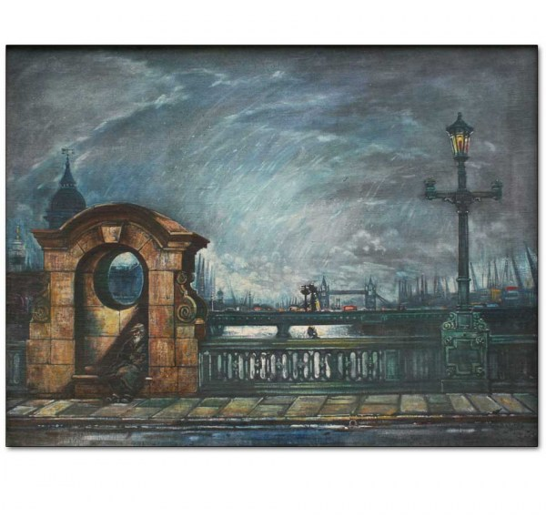 Southwark Bridge and Tramp, London