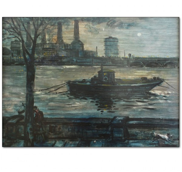 Battersea Power Station and River, Winter